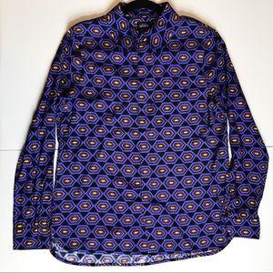 NWOT Kate Spade Saturday print button down blouse
